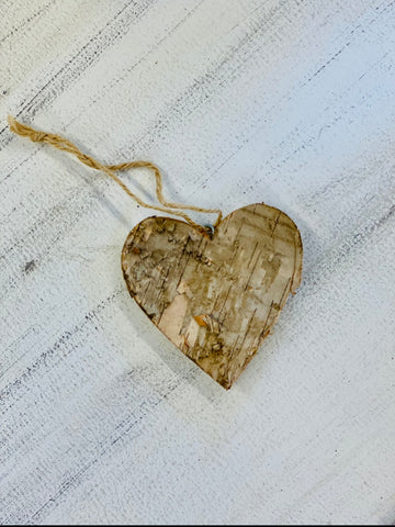 Birch Heart Ornament