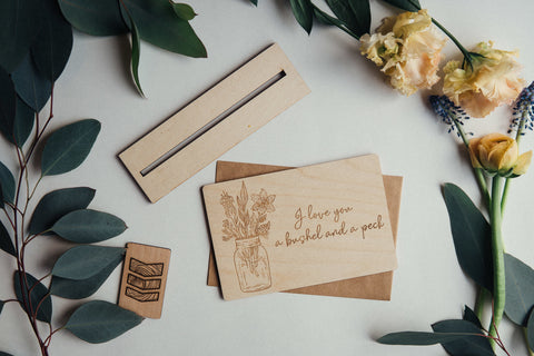 A Bushel and A Peck Wooden Card