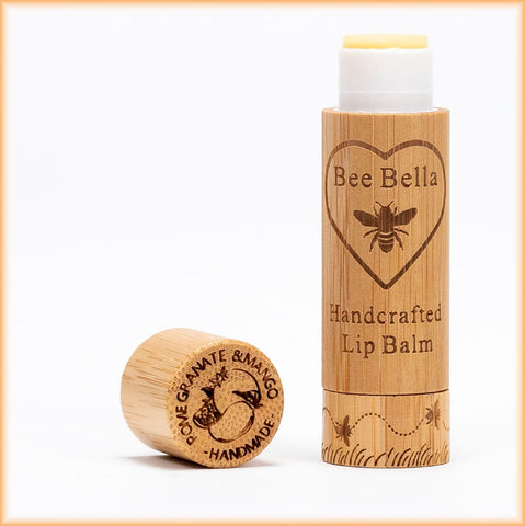 Bee Bella Natural Lip Balm - Pomegranate and Mango