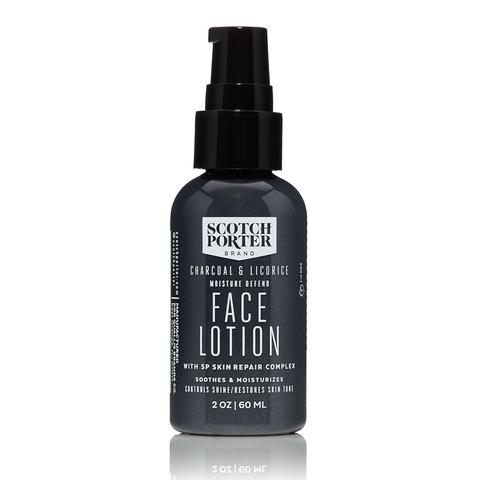 Scotch Porter Charcoal + Licorice Moisture Defend Face Lotion (2oz)