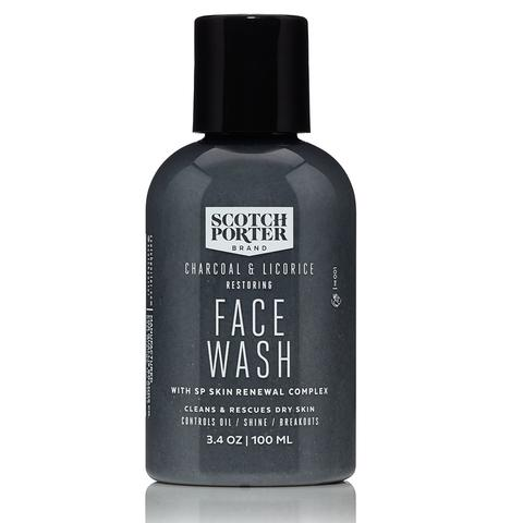 Scotch Porter Charcoal + Licorice Restoring Face Wash (3.4oz)