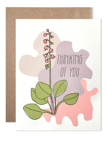 Thinking of You Flower Art Card
