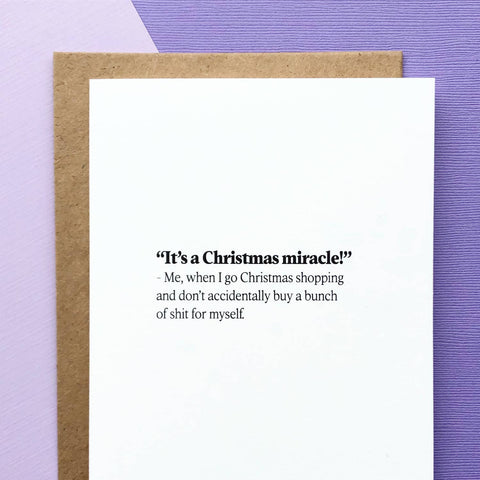 It's a Christmas Miracle Card
