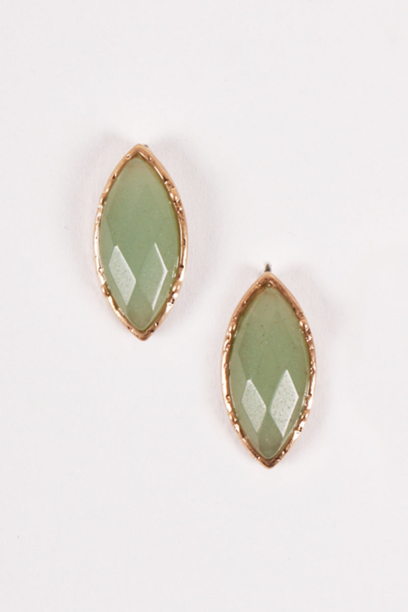 The Adelaide Earrings - Green