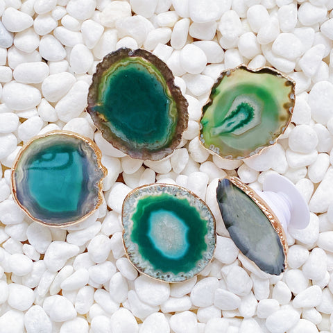 Green Agate Natural Stone Phone Grip