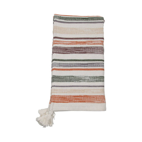 Handwoven Multi Hayes Neutral Throw