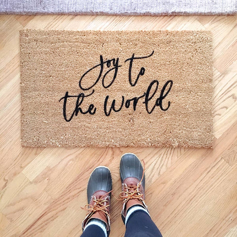 Joy to the World Doormat