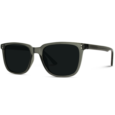 Jon Polarized Sunglasses - Gray/Black