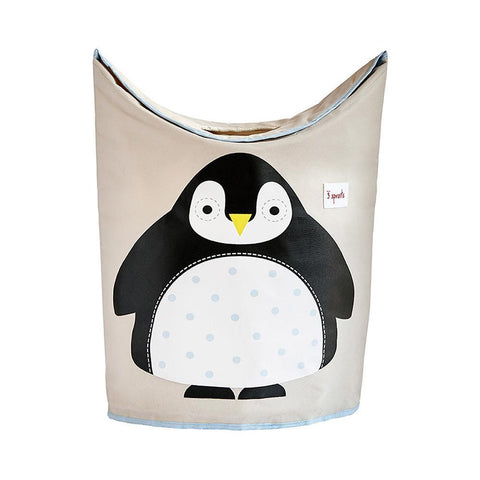 3 Sprouts Penguin Laundry Hamper