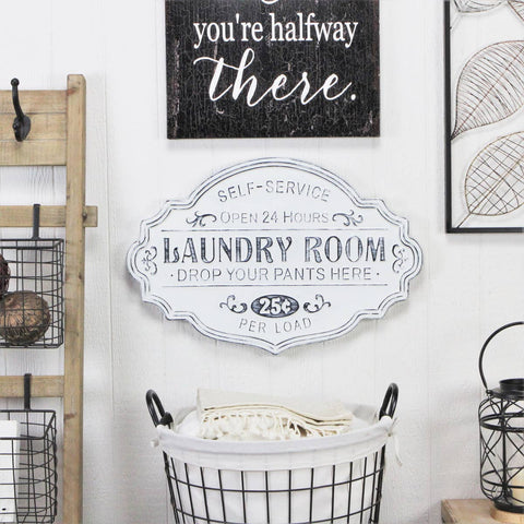 Self Service Laundry Room Wall Decor