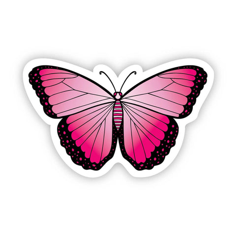 Pink Butterfly Aesthetic Sticker