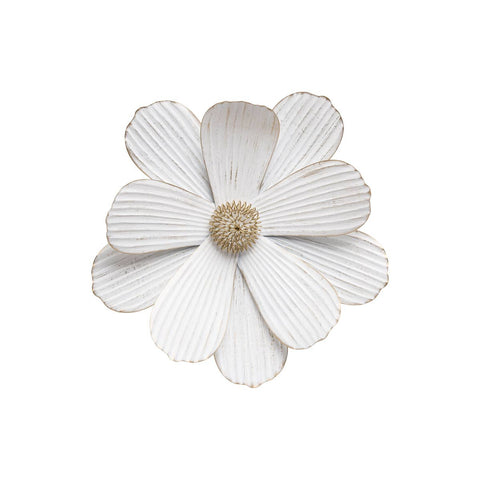 Large Stacy White Wall Flower