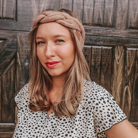 Winter Braid Headband - Camel