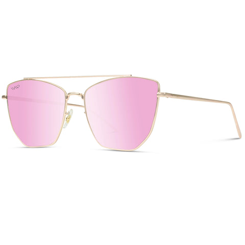 Sadie Sunglasses - Rose Gold/Mirror Pink