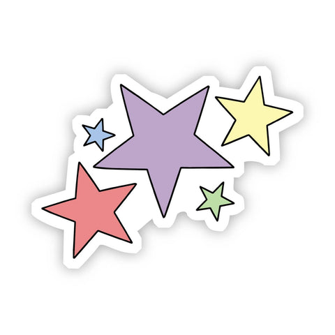 Multi Color Stars Aesthetic Sticker