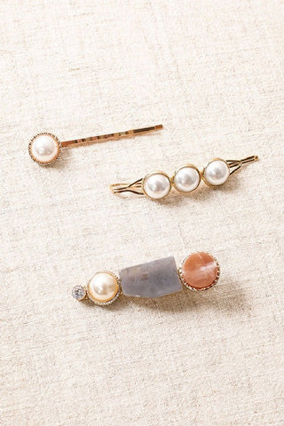 Assorted Pearl Hair Pin Set