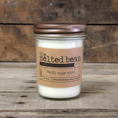 Basil Sage Mint Candle by The Melted Bean