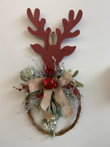 Reindeer Door Display