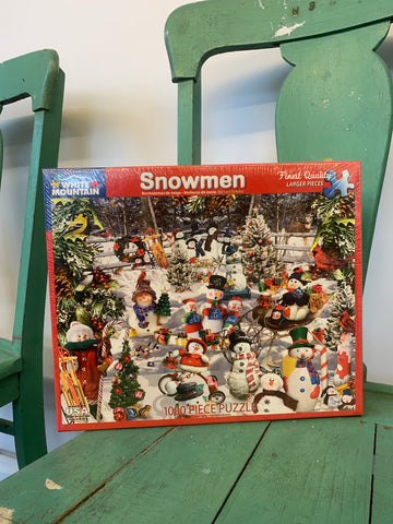 White Mountain 1000pc Snowmen Puzzle