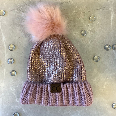CC Hat Shiny with Pom Pom