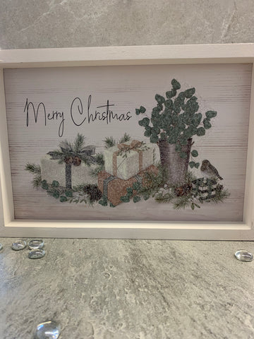Merry Christmas Present Sign