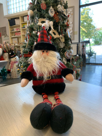 Plush Santa with Hanging Legs