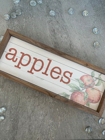 Apples Autumn Wood Plaque