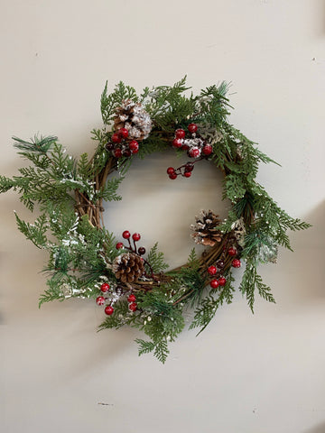 Frosted Holiday Wreath