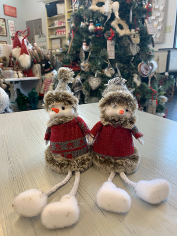 Felt Snowman with Sweater and Hanging Legs