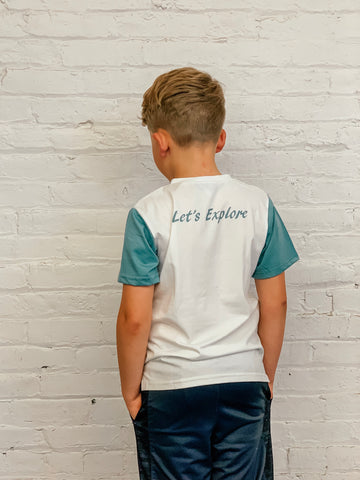 Let's Explore Boys Tee - White