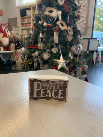 Small Peace Plaque Sign