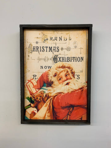 Christmas Exhibition Santa Hanging Sign