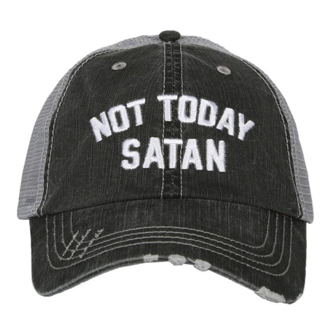 Not Today Satan Trucker Hat