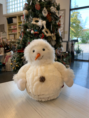 Sitting Winter Snowman