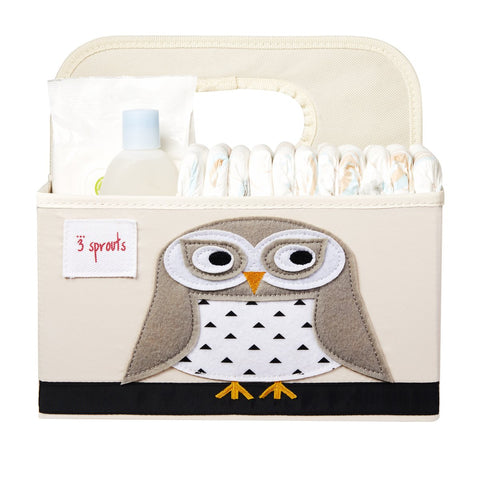 3 Sprouts Owl Diaper Caddy
