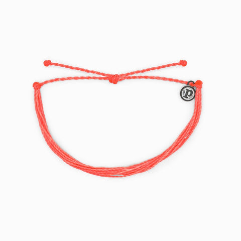 Pura Vida Bracelets - Bright Solid Strawberry Original Bracelet