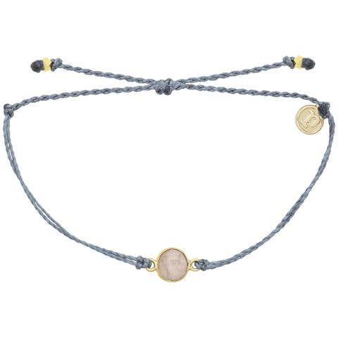 Pura Vida Bracelets - Rose Quartz Bracelet - Dusty Blue