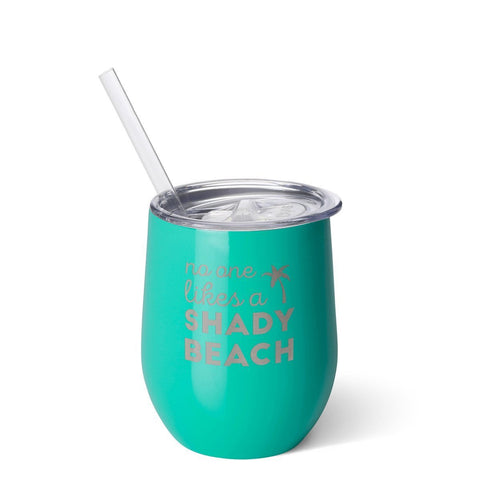 No One Likes A Shady Beach Stemless Wine Cup