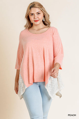 The Coral Top (Sizes XL-2x)