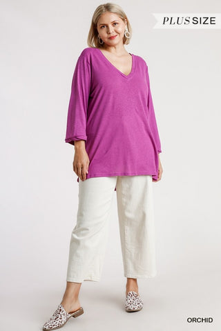 The Orchid Top (Sizes XL-2X)