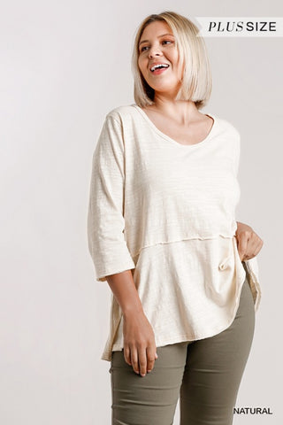 The Juliana Top - Natural (Sizes XL-2X)