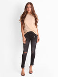 DISTRESSED TEE IN NUDE