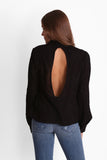 LEAH TOP IN BLOOMING BLACK