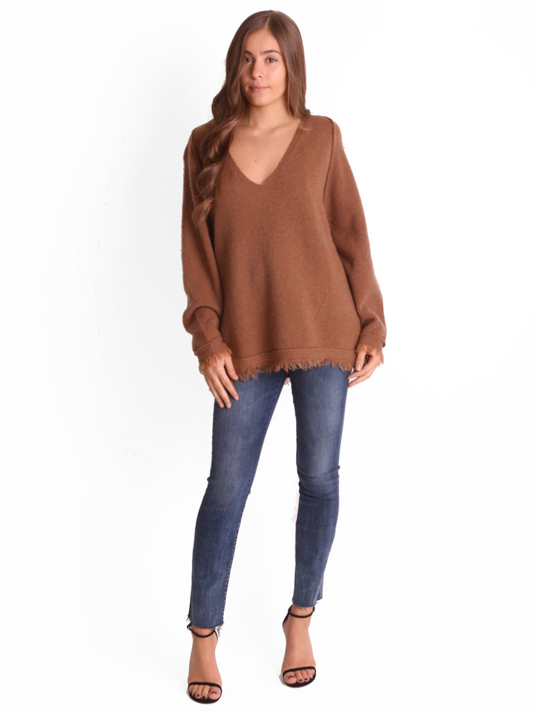 IRRESISTIBLE SWEATER IN TERRACOTTA