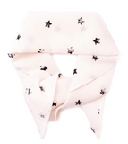 THE LUNA BANDANA IN WHITE W/ BLK STARS