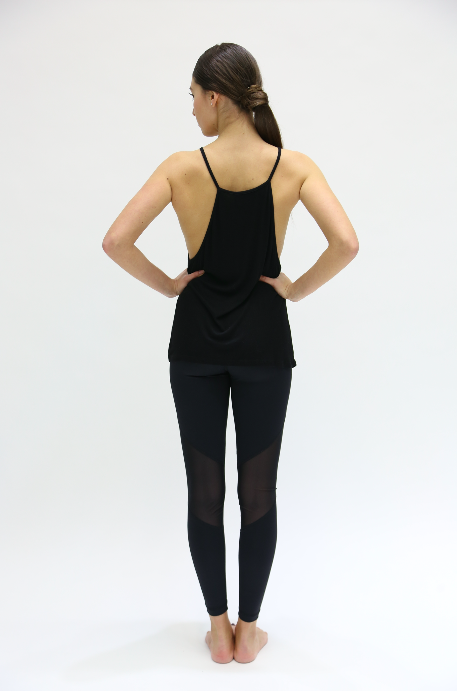 HIGH NECK TANK IN BLACK