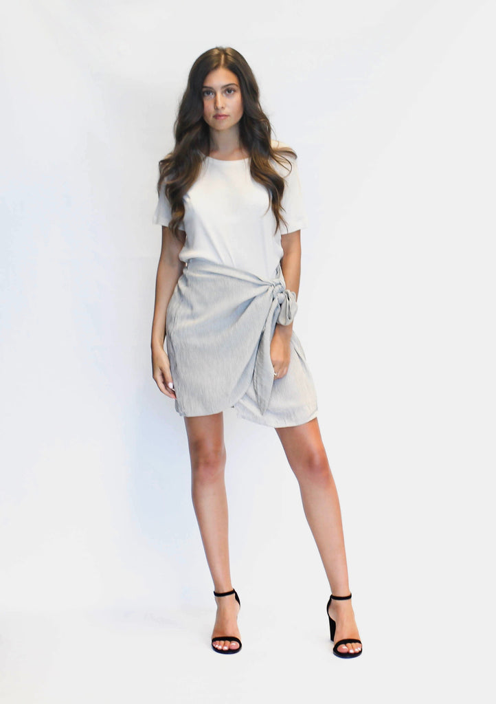 ACADIA SKIRT IN STONE GREY
