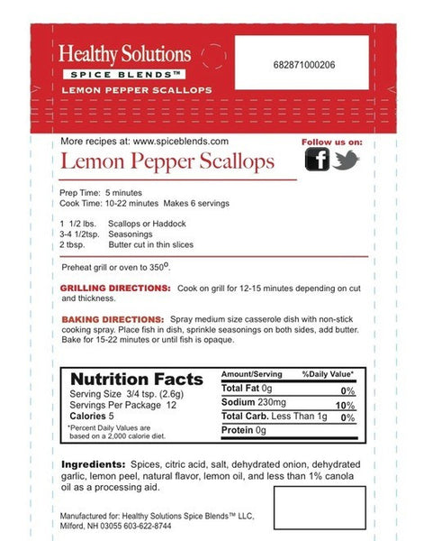 Lemon Pepper Scallops