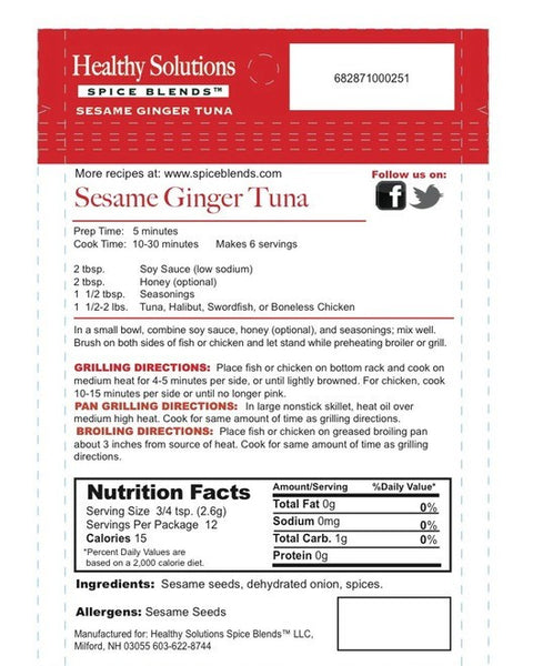 Sesame Ginger Tuna