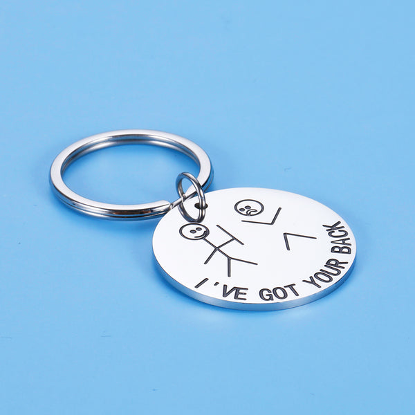 Funny Gifts Best Friend Keychain for Friends BFF Besties Companion I Got Your Back Stick Figures for Daughter Son Women Men Christmas Birthday Valentine Graduation Stocking Stuffers Friendship Gifts
